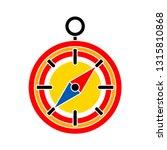 vector compass icon  ... | Shutterstock .eps vector #1315810868