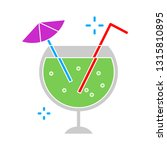 fresh cocktail juice glass ... | Shutterstock .eps vector #1315810895