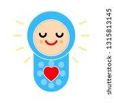vector baby child illustration  ... | Shutterstock .eps vector #1315813145