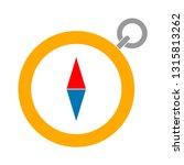 vector compass icon  ... | Shutterstock .eps vector #1315813262