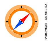 vector compass icon  ... | Shutterstock .eps vector #1315813265