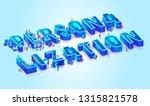 vector 3d neon isometric word... | Shutterstock .eps vector #1315821578
