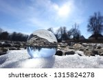 glowing lensball in nature | Shutterstock . vector #1315824278