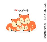 happy animal family. dad  mom ... | Shutterstock .eps vector #1315837268