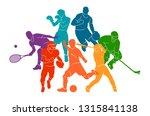 color sport background.... | Shutterstock .eps vector #1315841138