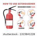 how to use fire extinguisher.... | Shutterstock .eps vector #1315841228