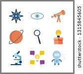 9 discovery icon. vector...   Shutterstock .eps vector #1315845605