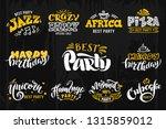 handwritten best party logotype ... | Shutterstock .eps vector #1315859012