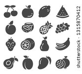 fruit icon set collection  ... | Shutterstock .eps vector #1315870412