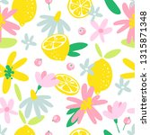 summer fruit seamless pattern... | Shutterstock .eps vector #1315871348