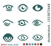 eye icon  flat icon for logo ... | Shutterstock .eps vector #1315872668