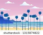 summer sunny tropical... | Shutterstock .eps vector #1315874822