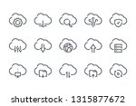 cloud service and technology... | Shutterstock .eps vector #1315877672