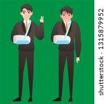 an injured businessman wearing... | Shutterstock .eps vector #1315879952