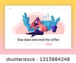 lovers couple relax landing... | Shutterstock .eps vector #1315884248