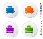 color toaster with toasts icon... | Shutterstock .eps vector #1315884392