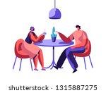 loving couple or pair male... | Shutterstock .eps vector #1315887275