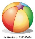 Illustration Of A Beach Ball O...