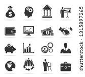 set of icons business. a vector ... | Shutterstock .eps vector #1315897265