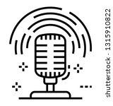 microphone line icon design  | Shutterstock .eps vector #1315910822