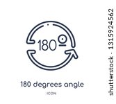 180 degrees angle icon from... | Shutterstock .eps vector #1315924562