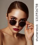 portrait of young girl wear... | Shutterstock . vector #1315926758
