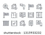 real estate related line icons. ...