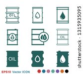 oil drum container icon logo ... | Shutterstock .eps vector #1315935095