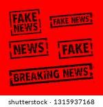 set of news stamps | Shutterstock .eps vector #1315937168