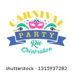 carnival typography  vector... | Shutterstock .eps vector #1315937282