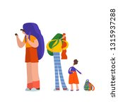 family of travelers with... | Shutterstock .eps vector #1315937288