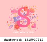 international women's day.... | Shutterstock . vector #1315937312