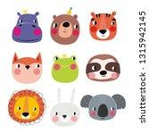 cute animals vector...   Shutterstock .eps vector #1315942145