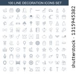 100 decoration icons. trendy... | Shutterstock .eps vector #1315945382