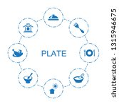8 plate icons. trendy plate... | Shutterstock .eps vector #1315946675
