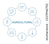 8 agricultural icons. trendy... | Shutterstock .eps vector #1315946702