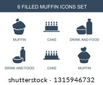 6 muffin icons. trendy muffin... | Shutterstock .eps vector #1315946732