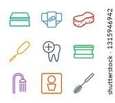 9 hygiene icons. trendy hygiene ... | Shutterstock .eps vector #1315946942