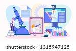 work doctors team. laboratory... | Shutterstock .eps vector #1315947125
