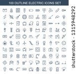 100 electric icons. trendy... | Shutterstock .eps vector #1315948292