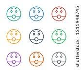 surprised emot icon white... | Shutterstock .eps vector #1315948745