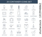 container icons. trendy 25... | Shutterstock .eps vector #1315948862