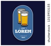 beer glass logo sticker badge... | Shutterstock .eps vector #1315953155