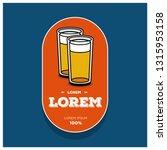 beer glass logo sticker badge... | Shutterstock .eps vector #1315953158