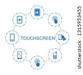 touchscreen icons. trendy 8... | Shutterstock .eps vector #1315953455