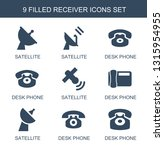 9 receiver icons. trendy... | Shutterstock .eps vector #1315954955