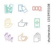 finger icons. trendy 9 finger... | Shutterstock .eps vector #1315955108