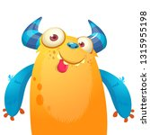 fat and lazy cartoon monster... | Shutterstock .eps vector #1315955198