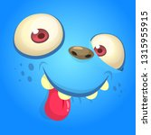 funny cartoon monster face... | Shutterstock .eps vector #1315955915