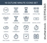 16 minute icons. trendy minute... | Shutterstock .eps vector #1315956365